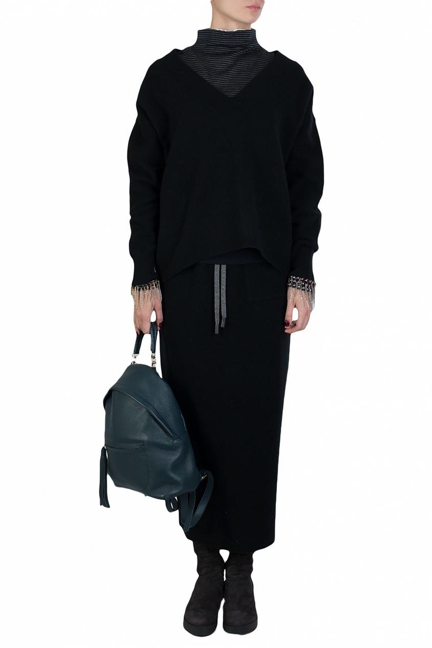 Eleventy | Черный пуловер | Clouty