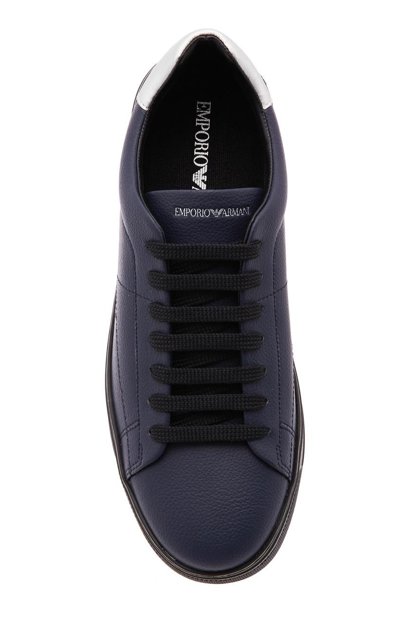 Emporio Armani | Multicolor Серебристо-черные кроссовки | Clouty