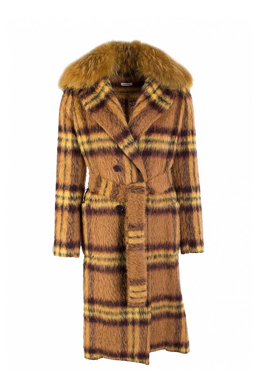 P.A.R.O.S.H. | желтый Желтое пальто в клетку | Clouty