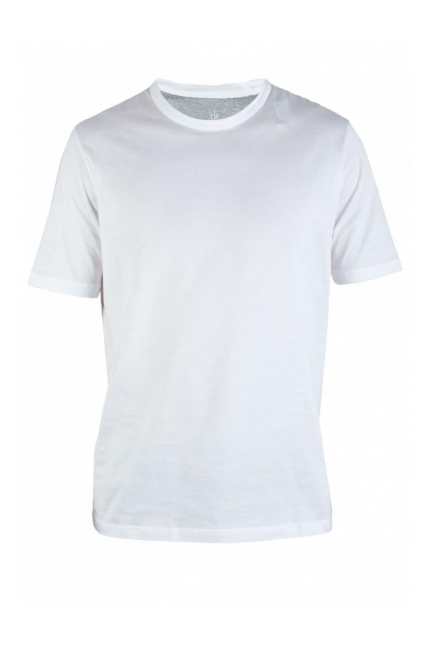 Eleventy | белый Белая футболка из гладкой ткани | Clouty