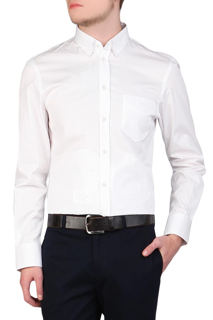 "Emporio Armani | Multicolor Приталенная белая рубашка от ""Armani"" | Clouty"