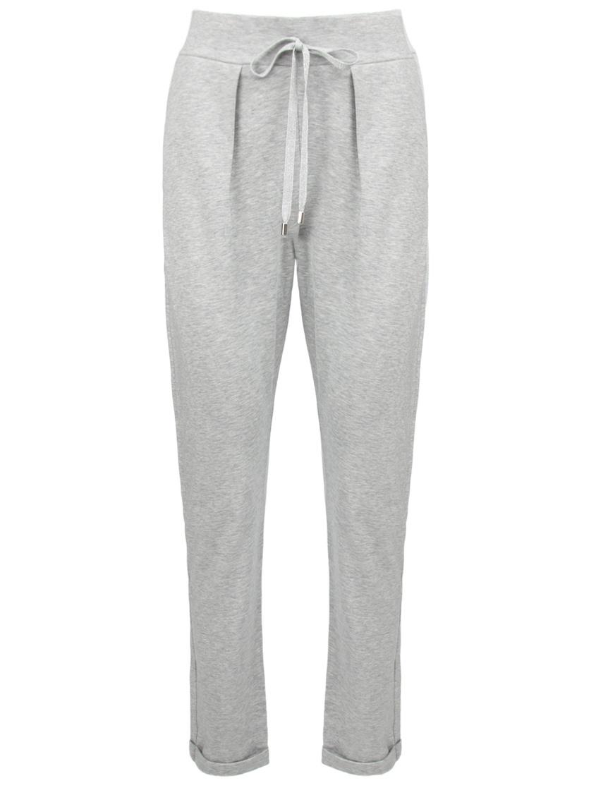 Gran Sasso | серый Серые трикотажные брюки с подворотами | Clouty