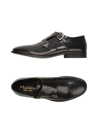 Maldini | Черный Мужские черные мокасины MALDINI кожа | Clouty
