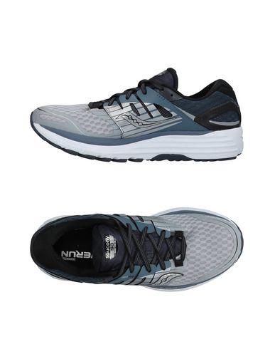 Saucony | Светло-серый; Синий Мужские светло-серые низкие кеды и кроссовки SAUCONY техническая ткань | Clouty