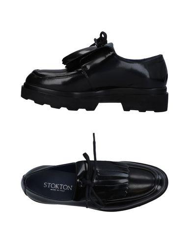 Stokton   Черный Женские черные мокасины STOKTON полированная кожа   Clouty