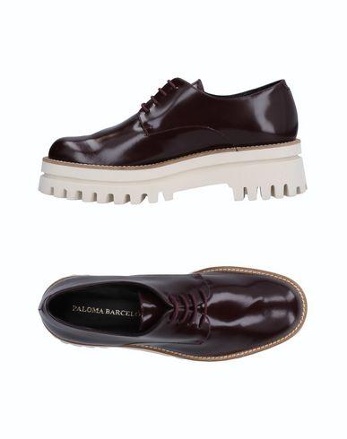 Paloma Barceló | Баклажанный; Черный Женская баклажанная обувь на шнурках PALOMA BARCELO Полированная кожа | Clouty