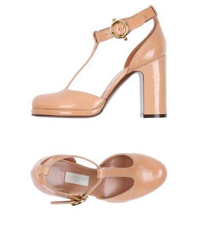 L'Autre Chose | Телесный; Красно-коричневый Женские телесные туфли L' AUTRE CHOSE эффект лакировки | Clouty