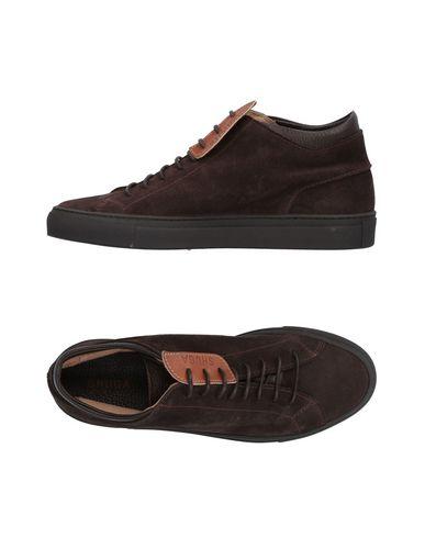 Shuga   Темно-коричневый Мужские темно-коричневые высокие кеды и кроссовки SHUGA замшевая ткань   Clouty