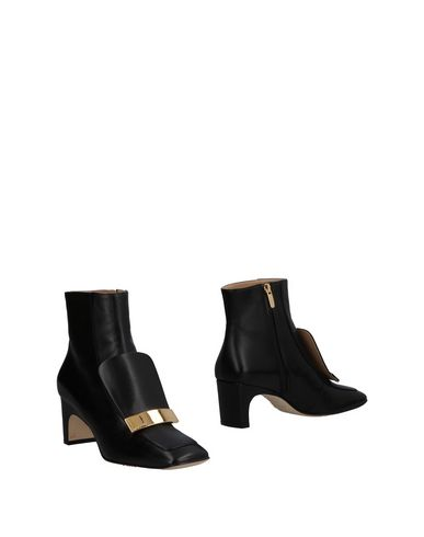 Sergio Rossi | Черный; Темно-синий; Телесный Женские черные полусапоги и высокие ботинки SERGIO ROSSI текстурированная кожа | Clouty
