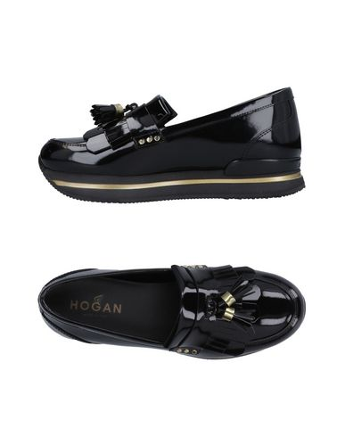 HOGAN | Черный Женские черные мокасины HOGAN полированная кожа | Clouty