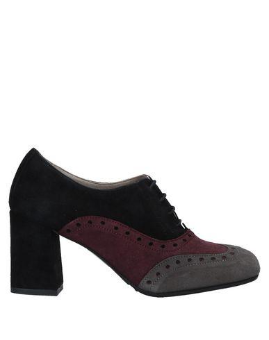 CAFèNOIR | Черный Женская черная обувь на шнурках CAFeNOIR замшевая ткань | Clouty