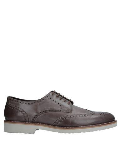 A. Testoni | Темно-коричневый Мужская темно-коричневая обувь на шнурках A.TESTONI без аппликаций | Clouty