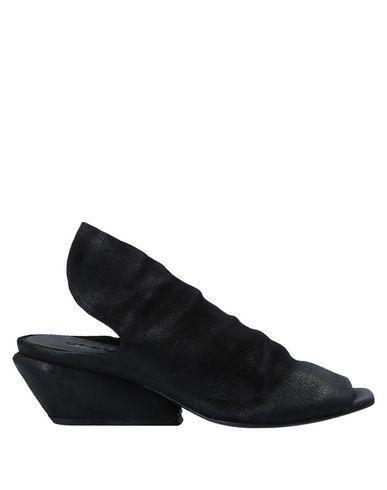 Marsèll | Черный Женские черные мюлес и сабо MARSELL замшевая ткань | Clouty