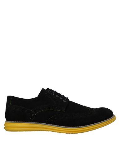 Gold Brothers | Черный Мужская черная обувь на шнурках GOLD BROTHERS замшевая ткань | Clouty