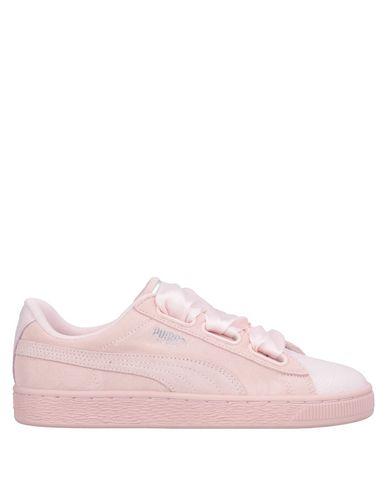 Puma | Светло-розовый Женские светло-розовые низкие кеды и кроссовки PUMA атлас | Clouty