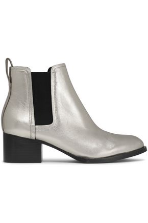 RAG & BONE | Rag & Bone Woman Metallic Leather Ankle Boots Silver Size 37 | Clouty