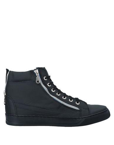 Vorrei Vorrei | Черный; Коричневый Мужские черные высокие кеды и кроссовки VORREI VORREI контрастные аппликации | Clouty