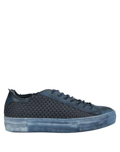 Yab | Синий; Темно-коричневый Мужские синие низкие кеды и кроссовки YAB без аппликаций | Clouty