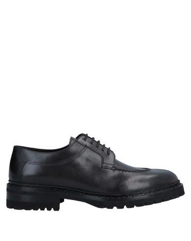 Santoni | Черный Мужская черная обувь на шнурках SANTONI без аппликаций | Clouty