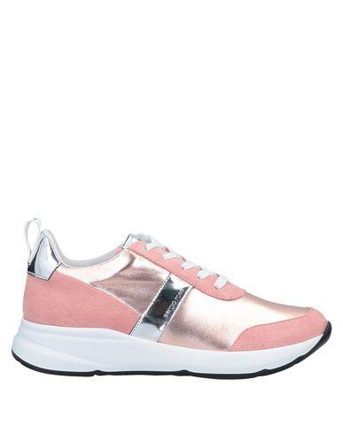 Sergio Rossi | Розовый Женские розовые низкие кеды и кроссовки SERGIO ROSSI эффект ламинирования | Clouty