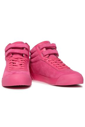 RAG & BONE | Rag & Bone Woman Suede And Leather Sneakers Pink | Clouty