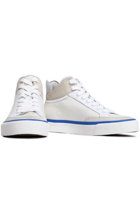 RAG & BONE   Rag & Bone Woman Suede And Leather-trimmed Canvas Sneakers White   Clouty