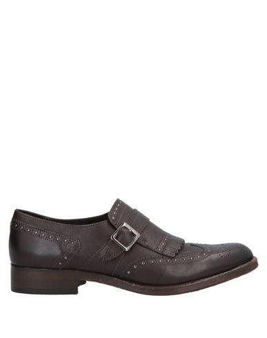 MFW Collection | Темно-коричневый Мужские темно-коричневые мокасины MFW COLLECTION ремешки | Clouty