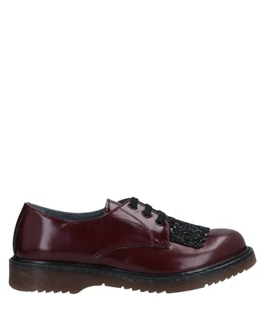 CHIARA LUCIANI | Красно-коричневый Детская обувь на шнурках CHIARA LUCIANI полированная кожа | Clouty