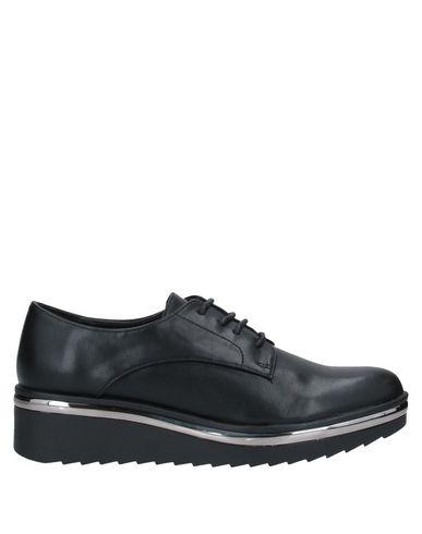 CAFèNOIR | Черный Женская черная обувь на шнурках CAFeNOIR без аппликаций | Clouty
