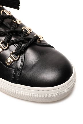 Tod's | Tod's Woman Tasseled Leather Sneakers Black | Clouty