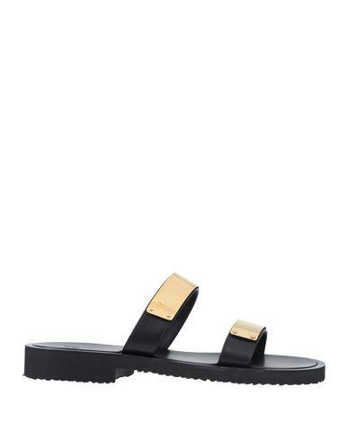 Giuseppe Zanotti | Черный Мужские черные сандалии GIUSEPPE ZANOTTI логотип | Clouty