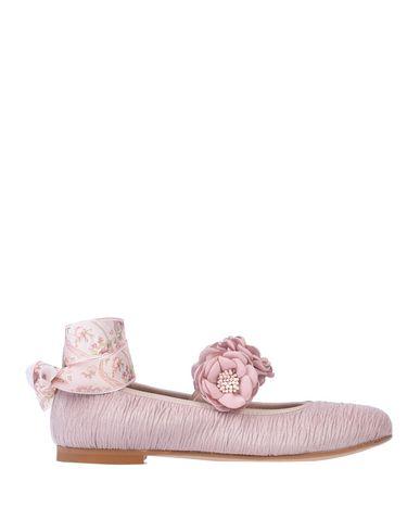 OCA-LOCA   Пастельно-розовый Детские балетки OCA-LOCA плотная ткань   Clouty