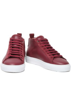 AXEL ARIGATO   Axel Arigato Woman Suede-trimmed Leather Sneakers Merlot   Clouty