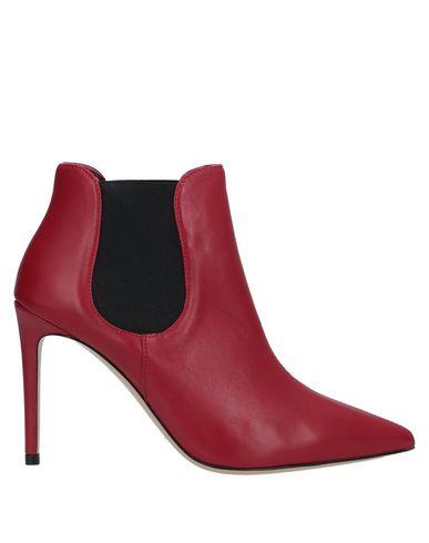 Ninalilou | Красный; Черный Женские красные полусапоги и высокие ботинки NINALILOU без аппликаций | Clouty