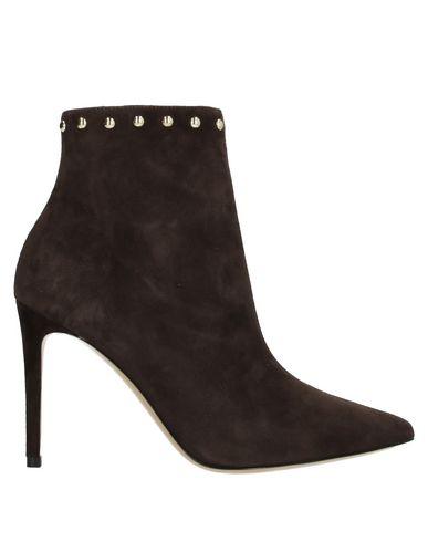 Ninalilou | Темно-коричневый Женские темно-коричневые полусапоги и высокие ботинки NINALILOU замшевая ткань | Clouty