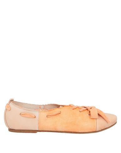 CAFèNOIR   Абрикосовый Женская абрикосовая обувь на шнурках CAFeNOIR габардин   Clouty