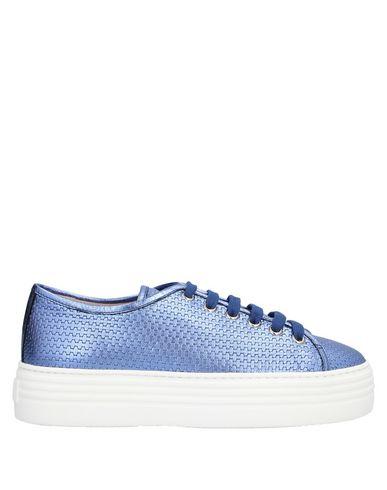 Stokton | Пастельно-синий Женские низкие кеды и кроссовки STOKTON эффект ламинирования | Clouty