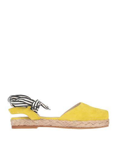 Espadrilles   Желтый Женские желтые эспадрильи ESPADRILLES замшевая ткань   Clouty