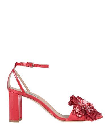 Ninalilou   Красный Женские красные сандалии NINALILOU кожа   Clouty