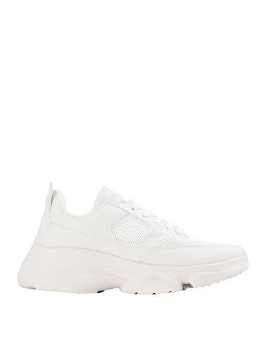 Essentiel Antwerp | Белый; Желтый Женские белые низкие кеды и кроссовки ESSENTIEL ANTWERP искусственная кожа | Clouty