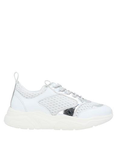Stokton | Белый Женские белые низкие кеды и кроссовки STOKTON техническая ткань | Clouty