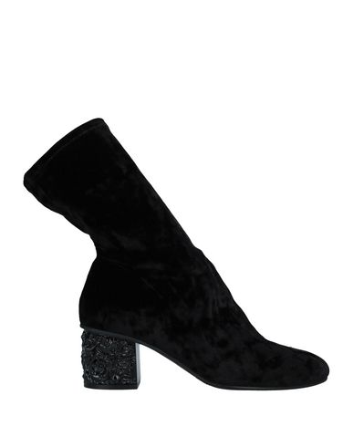 Elvio Zanon | Черный Женские черные полусапоги и высокие ботинки ELVIO ZANON бархат | Clouty