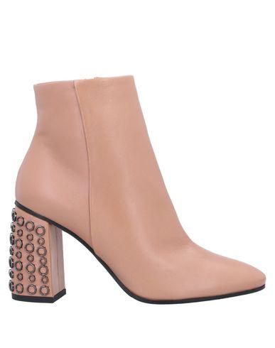 Ninalilou | Телесный Женские телесные полусапоги и высокие ботинки NINALILOU кожа | Clouty