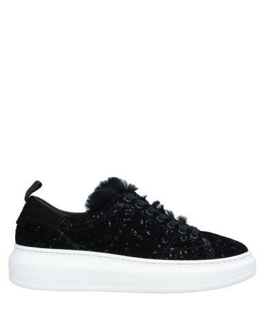 Stokton | Черный Женские черные низкие кеды и кроссовки STOKTON бархат | Clouty