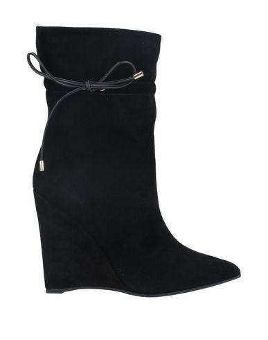 Ninalilou | Черный Женские черные полусапоги и высокие ботинки NINALILOU контрастные аппликации | Clouty