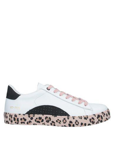 Stokton | Белый Женские белые низкие кеды и кроссовки STOKTON кожа | Clouty