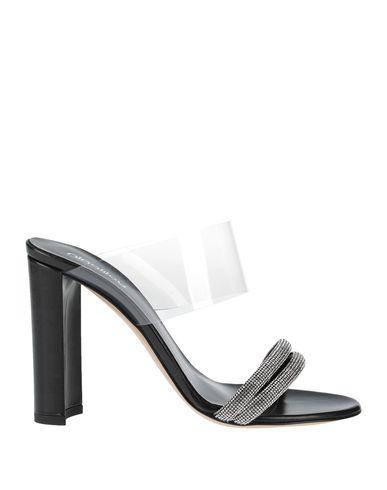Ninalilou | Черный Женские черные сандалии NINALILOU эффект прозрачности | Clouty