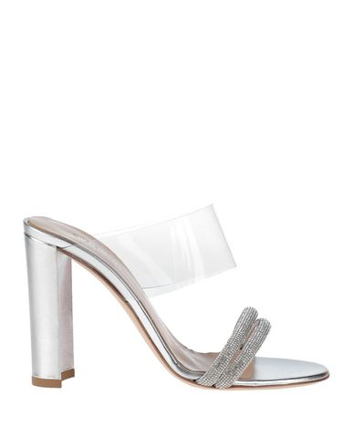 Ninalilou | Серебристый Женские серебристые сандалии NINALILOU кожа наппа | Clouty