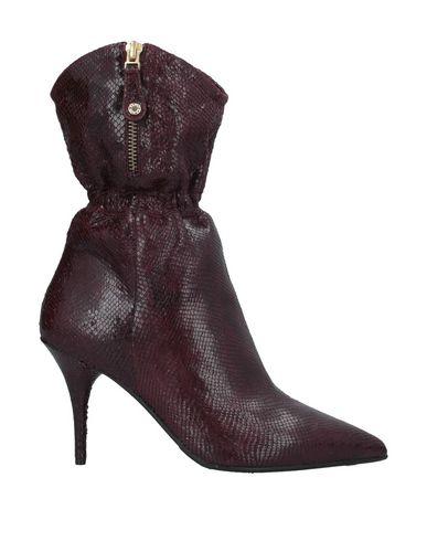 Elvio Zanon | Красно-коричневый Женские полусапоги и высокие ботинки ELVIO ZANON кожа | Clouty