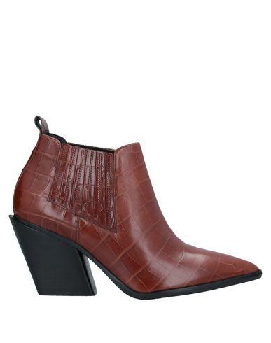 Elvio Zanon | Коричневый Женские коричневые полусапоги и высокие ботинки ELVIO ZANON крокодиловый принт | Clouty